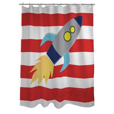 Rocketship Shower Curtain