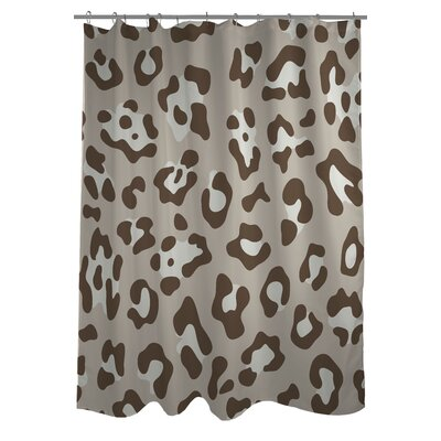 Leopard Print Nougat Shower Curtain