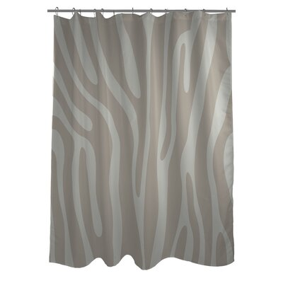 Zebra Print Shower Curtain Color: Oatmeal