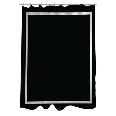 Samantha Simple Square Shower Curtain Color: Black