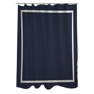 Samantha Simple Square Shower Curtain Color: Navy