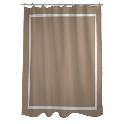 Samantha Simple Square Shower Curtain Color: Tan