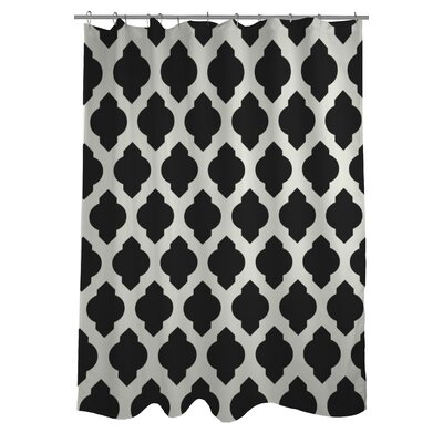All Over Moroccan Shower Curtain Color: Black/White