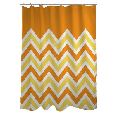 Chevron Solid Shower Curtain Color: Candy Corn