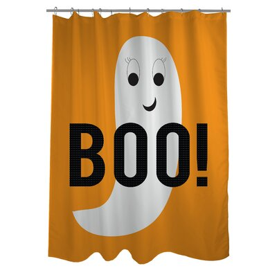 Smiley Ghost Boo Dot Shower Curtain