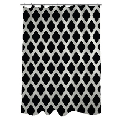All Over Moroccan Shower Curtain Color: Black/Ivory