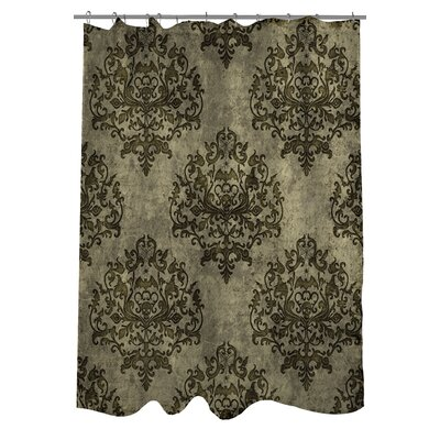 Haunted Filigree Shower Curtain Color: Tan