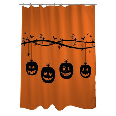 Pumpkins On a Branch Shower Curtain