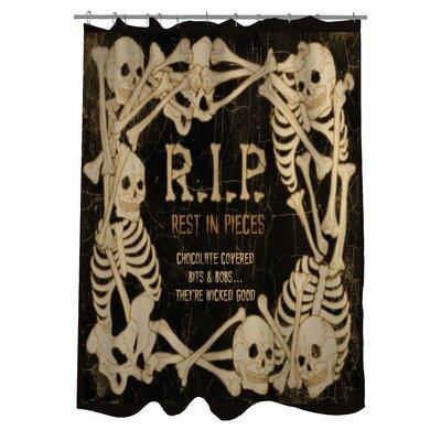 RIP Skeleton Border Shower Curtain