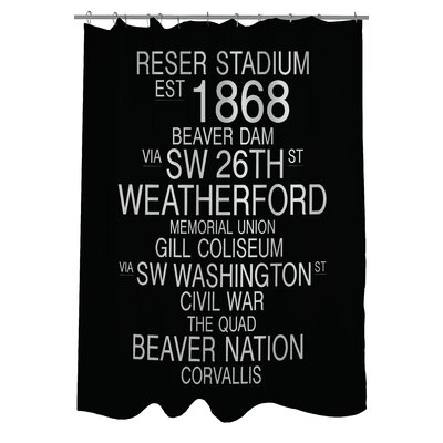 Corvallis Oregon Landmarks Shower Curtain