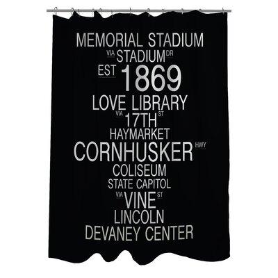 Lincoln Nebraska Landmarks Shower Curtain