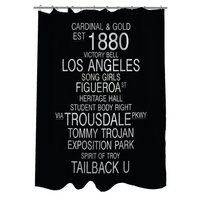 Los Angeles California Landmarks Shower Curtain