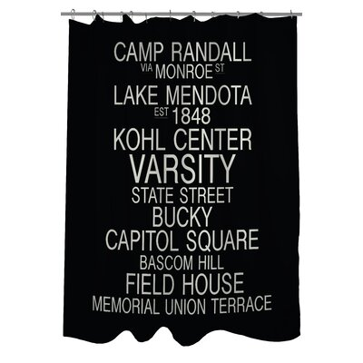 Madison Wisconsin Landmarks Shower Curtain