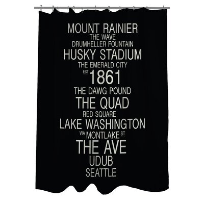 Seattle Washington Landmarks Shower Curtain