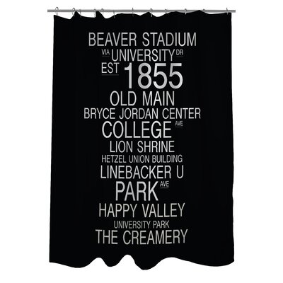 University Park Pennsylvania Landmarks Shower Curtain