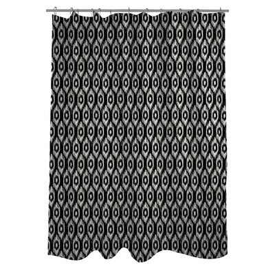 Kelly Ikat Shower Curtain Color: Black/Ivory