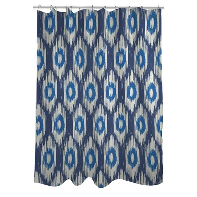 Kelly Ikat Shower Curtain Color: Blue