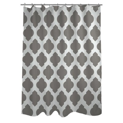 All Over Moroccan Shower Curtain Color: Gray