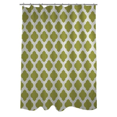 All Over Moroccan Shower Curtain Color: Oasis Green/Ivory
