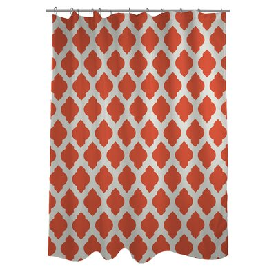All Over Moroccan Shower Curtain Color: Orange/Ivory