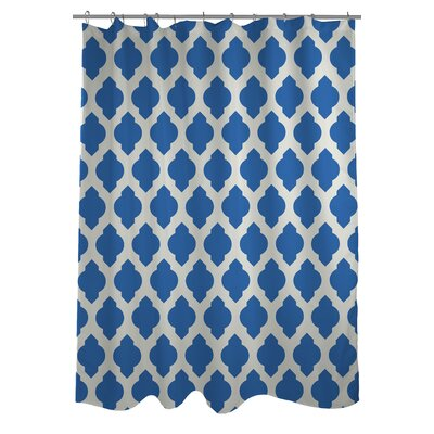 All Over Moroccan Shower Curtain Color: Palace Blue/Ivory