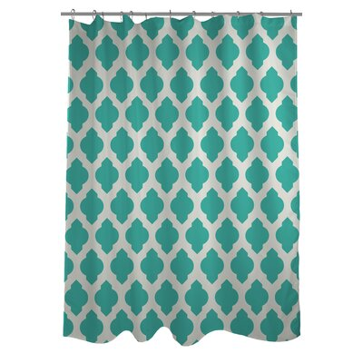 All Over Moroccan Shower Curtain Color: Turquoise