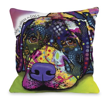Doggy D�cor Savvy Lab Throw Pillow Size: 18 H x 18 W