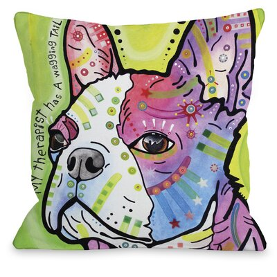 Doggy D�cor Pride Text Throw Pillow Size: 16 H x 16 W