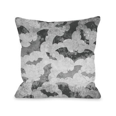 Flying Bats Throw Pillow Size: 16 H x 16 W x 3 D