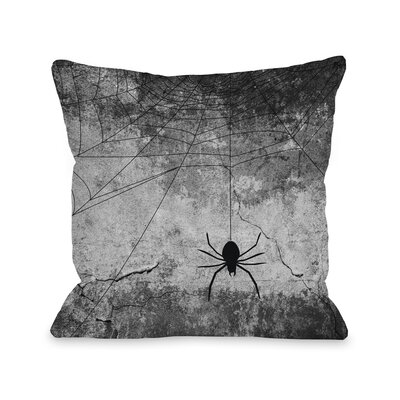 Hanging Spider Throw Pillow Size: 16 H x 16 W x 3 D