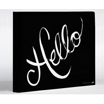 Hello by Timree Textual Art on Wrapped Canvas Size: 16