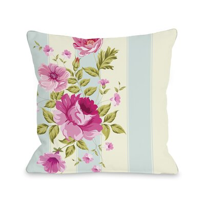Shelby Stripe Rose Throw Pillow