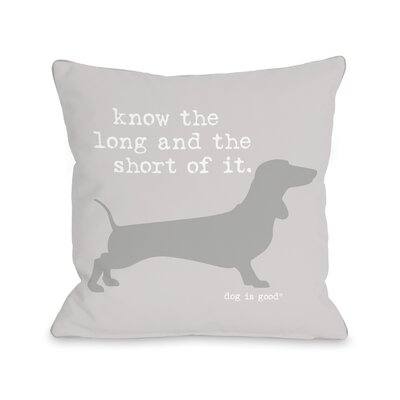 Long and Shore Throw Pillow Size: 16 H x 16 W x 3 D