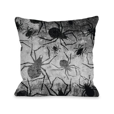All Over Spiders Throw Pillow Size: 16 H x 16 W x 3 D