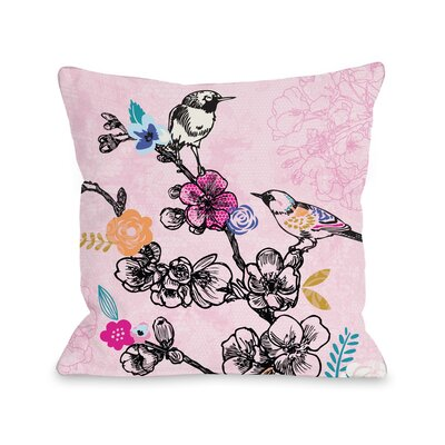 Birds Throw Pillow Size: 18 H x 18 W x 3 D