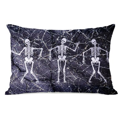 Dancing Skeletons Lumbar Pillow