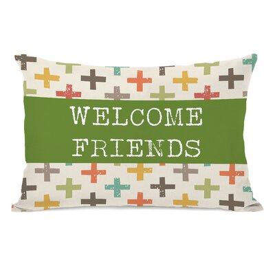 Welcome Friends Lumbar Pillow