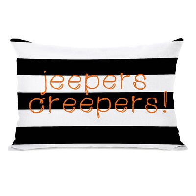 Jeepers Creepers Stripes Lumbar Pillow