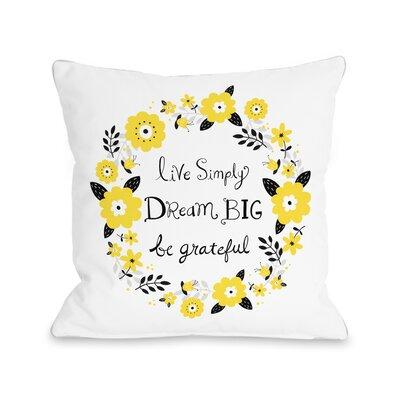 Dazzling Throw Pillow Size: 16 H x 16 W x 3 D