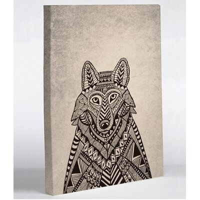 Fox Woods by Joy Ting Graphic Art on Wrapped Canvas Size: 10