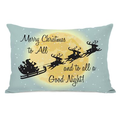 Merry Christmas To All Lumbar Pillow