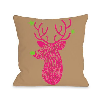 Neon Noel 1 Throw Pillow Size: 16 H x 16 W x 3 D