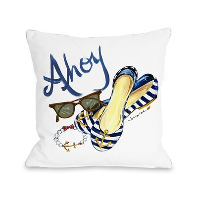 Ahoy Shoes Throw Pillow Size: 18 H x 18 W x 3 D
