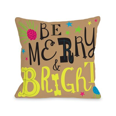 Neon Noel 3 Throw Pillow Size: 16 H x 16 W x 3 D