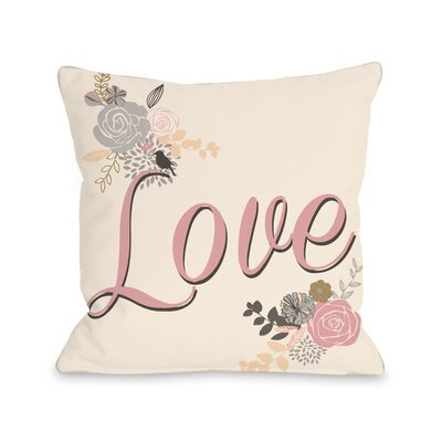 Love Reversed Fleece Throw Pillow