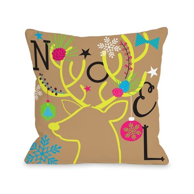 Neon Noel 6 Throw Pillow Size: 18 H x 18 W x 3 D