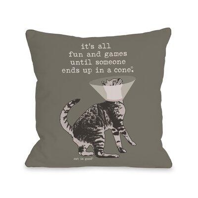 Fun and Games Fleece Throw Pillow