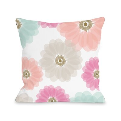 Spring Jardin Fleece Throw Pillow Size: 18 H x 18 W
