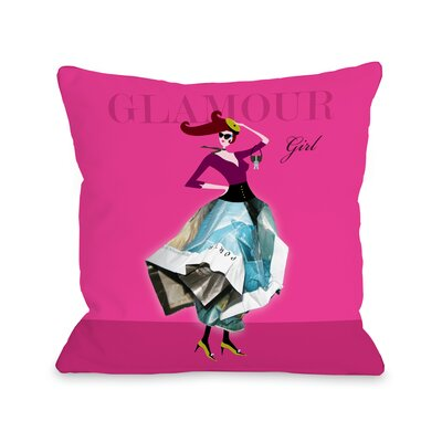 Glamour Girl Throw Pillow Size: 18 H x 18 W x 3 D