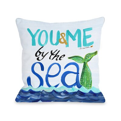 By the Sea Fleece Throw Pillow